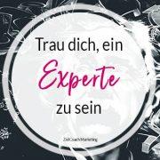 Experte sein oder nicht - das ist hier die Frage