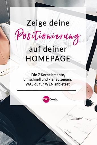 Positionierung Homepage