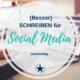 schreiben social media